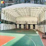 大型倉儲遮陽蓬摺疊推拉雨棚