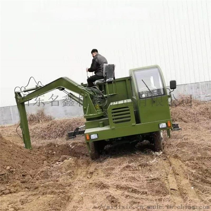 龙门吊挖掘装载一体机 多功能四驱下葬挖吊机