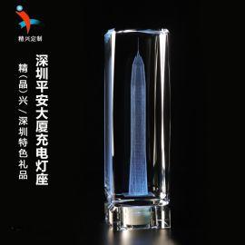 深圳平安中心建筑礼品 水晶模型纪念品