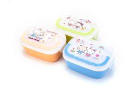 带勺饭盒 携饭盒学生便当盒 密封保鲜盒塑料微波炉餐盒