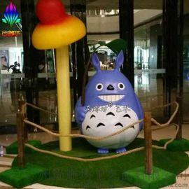 卡通雕塑_卡通動物雕塑_日本龍貓多多洛玻璃鋼工藝品擺件