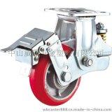 威霸直供韩式铁芯聚氨酯减震脚轮