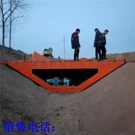 钢丝绳牵引6米水渠成型机  液压自走水渠机