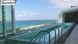 移动泳池阳光房、电动伸缩泳池阳光房Sunrim
