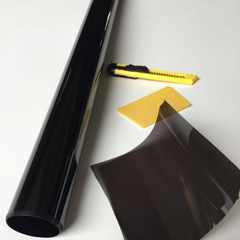 批发汽车太阳膜 汽车窗户玻璃膜  黑色防晒膜5%,彩盒装防晒膜