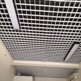 白色方格條形鋁格柵天花吊頂 100*100格子鋁天花室內鋁格柵吊頂