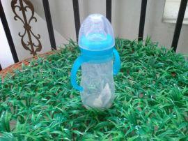 厂家直销150ml硅胶奶瓶 带手柄 防菌液态硅胶奶瓶