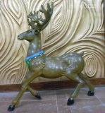 供应 雕塑树脂圣诞鹿 圣诞节工艺礼品饰品