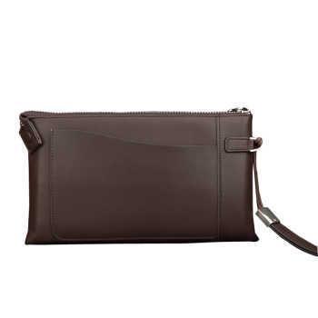男式手包手抓包 软皮手包 手拿包头层牛皮 真皮大容量牛皮手腕包 长款手包