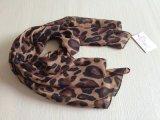 2015年德清丰锦巴厘纱新款棕色大豹纹点中长款围巾