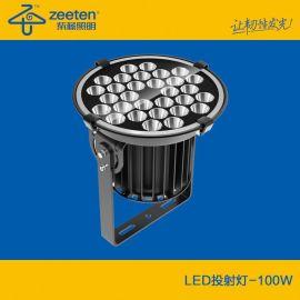 小功率超远距离投射灯 ,户外照明灯 ,100W LED投光灯