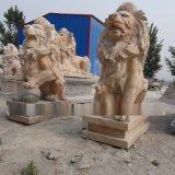 欧式石雕雄狮雕塑手工石雕定制厂家