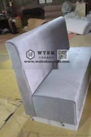 天津快餐厅卡座沙发 连排卡座沙发 卡座沙发餐桌椅