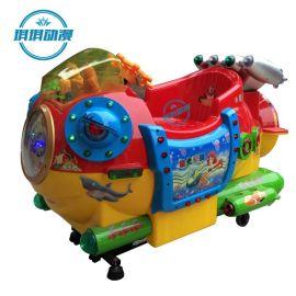 新款儿童电动投币摇摆车摇摇车游乐园必备摇摇叮咚卡通投币游戏机