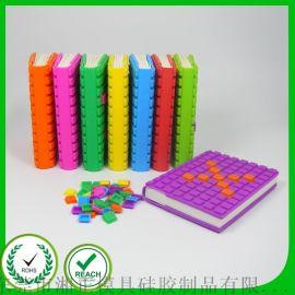 广东东莞工厂加工定制环保创意硅胶拼图笔记本