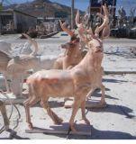 草坪动物摆件 石雕小鹿雕塑 石鹿厂家