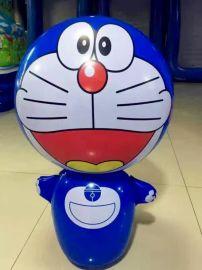 地攤  卡通不倒翁兒童玩具 立式pcv充氣魔術球