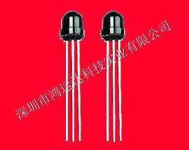 深圳厂家促销红外线顶部接收头5MM草帽型1.27脚距HYD0038N接收头