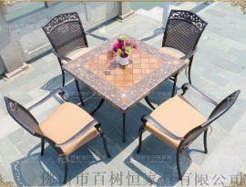 百树恒 供应现货铸铝桌椅 户外桌椅 户外家具套件 铸铝家具