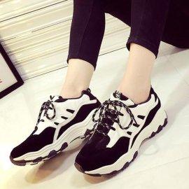 佳人春夏平底運動鞋女鞋韓版潮單鞋休閒運動網鞋阿甘學生跑步板鞋