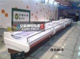 黑龙江鲜肉保鲜展示柜厂家,定做风冷不锈钢猪肉保鲜展示柜