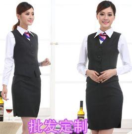 宾馆商务职业女装工装文员银行酒店员工修身西装马甲