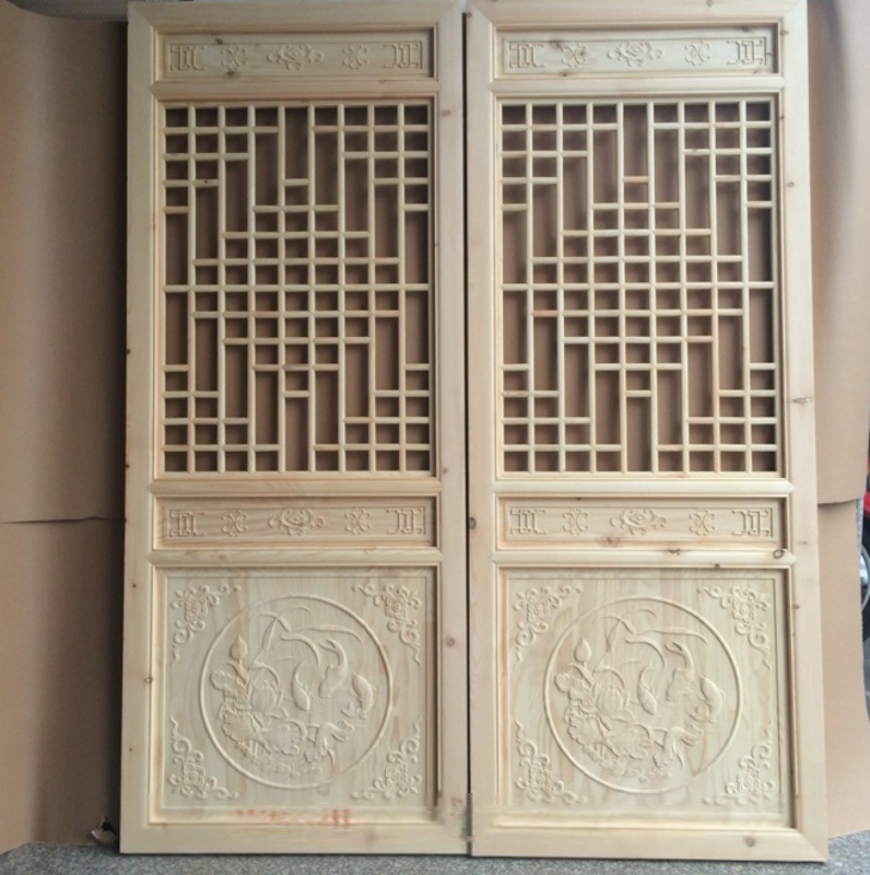 仿古木門窗,寺廟門窗,大殿木門窗廠家