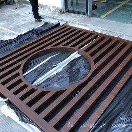 铝窗花 中式铝窗花木纹铝合  格厂家定制