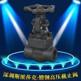 螺纹丝口承插焊接对焊高温高压锻钢闸阀Z61Y-16DN 20 25 32 40 50