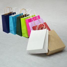 牛皮纸袋定做手提袋服装店包装袋礼品袋购物袋子 定制印logo批发