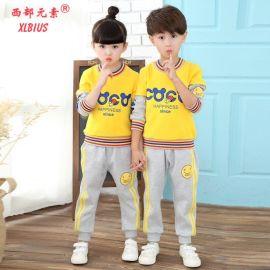 西部元素幼儿园园服春秋新款纯棉套装时尚休闲运动服定做