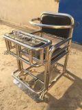棕黑色板钥匙型铁质审讯椅 不锈钢审讯桌椅