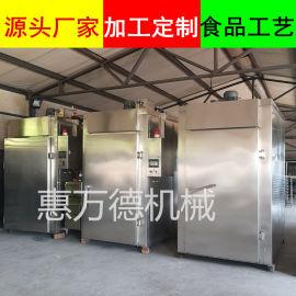 豆干电烤炉诸城厂家 烤猪头肉烟熏设备