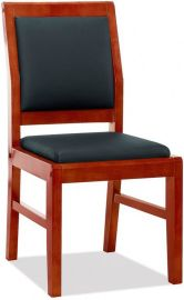 JM橡木实木架仿皮会议椅