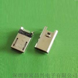 厂家直销迈克沉板公头连接器,MICRO USB公头四脚插板