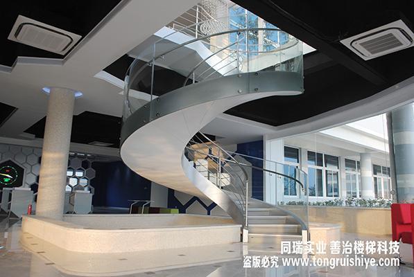 適合辦公樓 會所的鋼結構旋轉樓梯