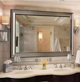 欧美复古卫浴镜子 洗手间镜 酒店现代方形浴室镜挂镜