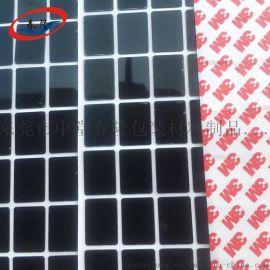 东莞万江网格纹橡胶垫3m自粘硅胶脚垫防滑橡胶垫片 防震圆形家具垫圈