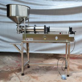 卧式灌装机 GB-1半自动气动灌装机 膏体液体浓酱定量灌装机 厂家直销