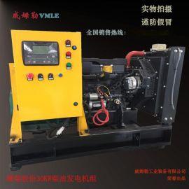 潍柴发电机组 30KW柴油发电机 全国联保 厂家直销 无刷小功率