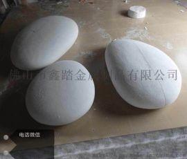 不锈钢鹅卵石蛋雕塑鹅卵石摆件散发出别致的艺术气息图
