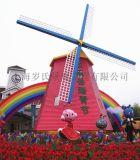 防腐木景观风车 上海岁氏大型风车 电动风车