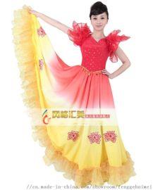 西班牙伴舞 开场大舞裙 民族舞台演出服 现场舞蹈服