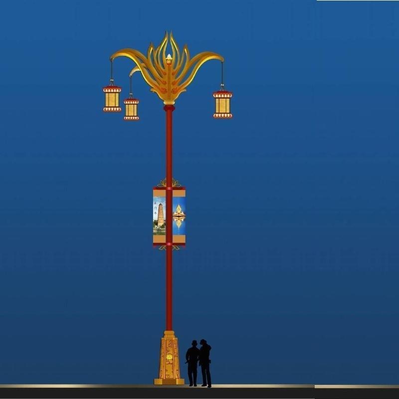 **道路灯,四川定制藏式文化特色路灯