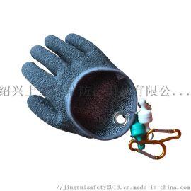 釣魚抓魚防刺防扎防滑手套 PE浸膠手套戶外垂釣用品