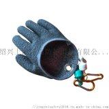 钓鱼抓鱼防刺防扎防滑手套 PE浸胶手套户外垂钓用品