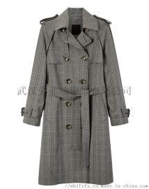 服装店货源【现货】梵娅女士风衣中长款