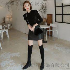 巴卡  恋白品牌雪纺连衣裙批发 尾货货源 大量品牌女装折扣批发