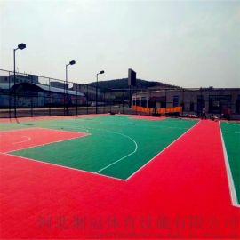 黑河市氣墊懸浮地板籃球場塑膠地板拼裝地板廠家