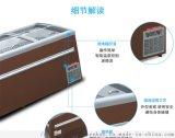 商用冰櫃\超市組合島櫃\臥式冷凍速凍展示櫃湯圓水餃冰箱